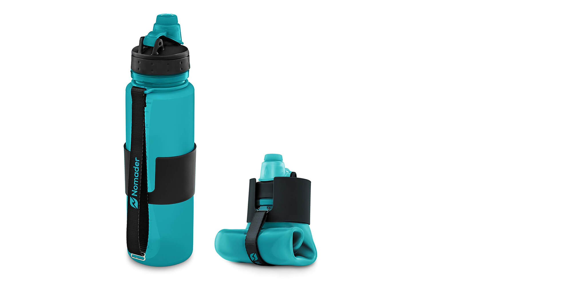 BPA-Free & Collapsible Reusable Water Bottle by Nomader