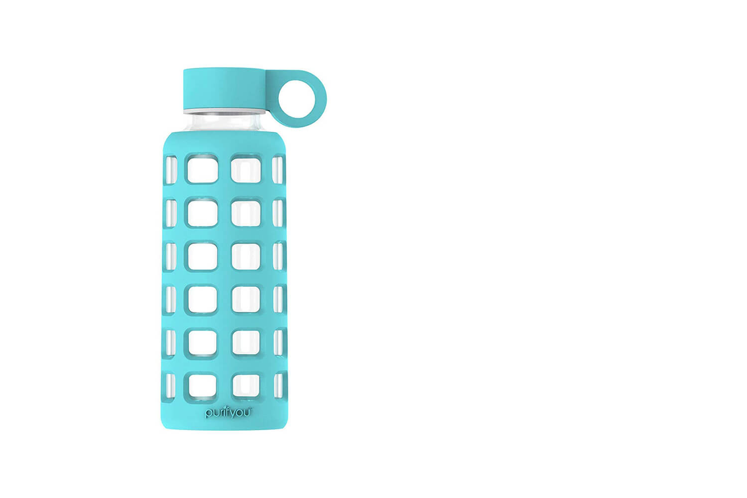 BPA free Reusable Glass Bottle, by Purifyou