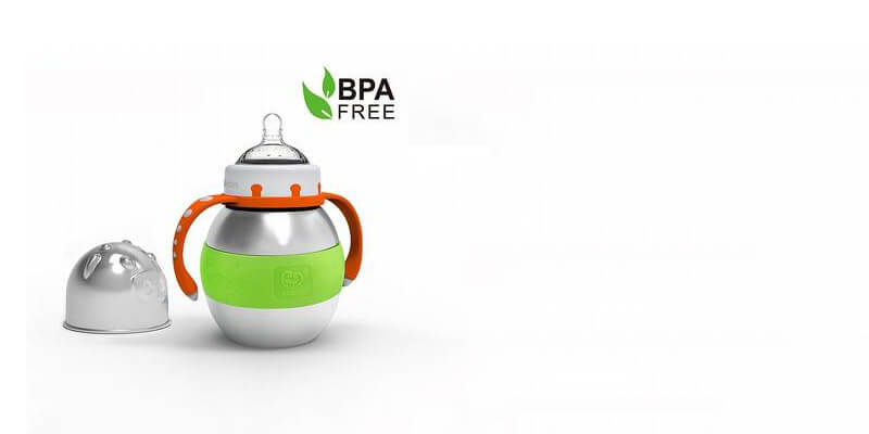 Thermal Stainless Steel & BPA-Free Baby Bottle, by Haakaa