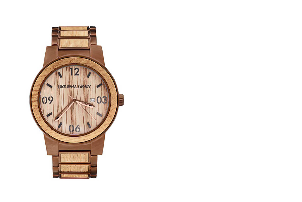 Sustainable Wooden Wristwatch for an Eco-Conscious Man
