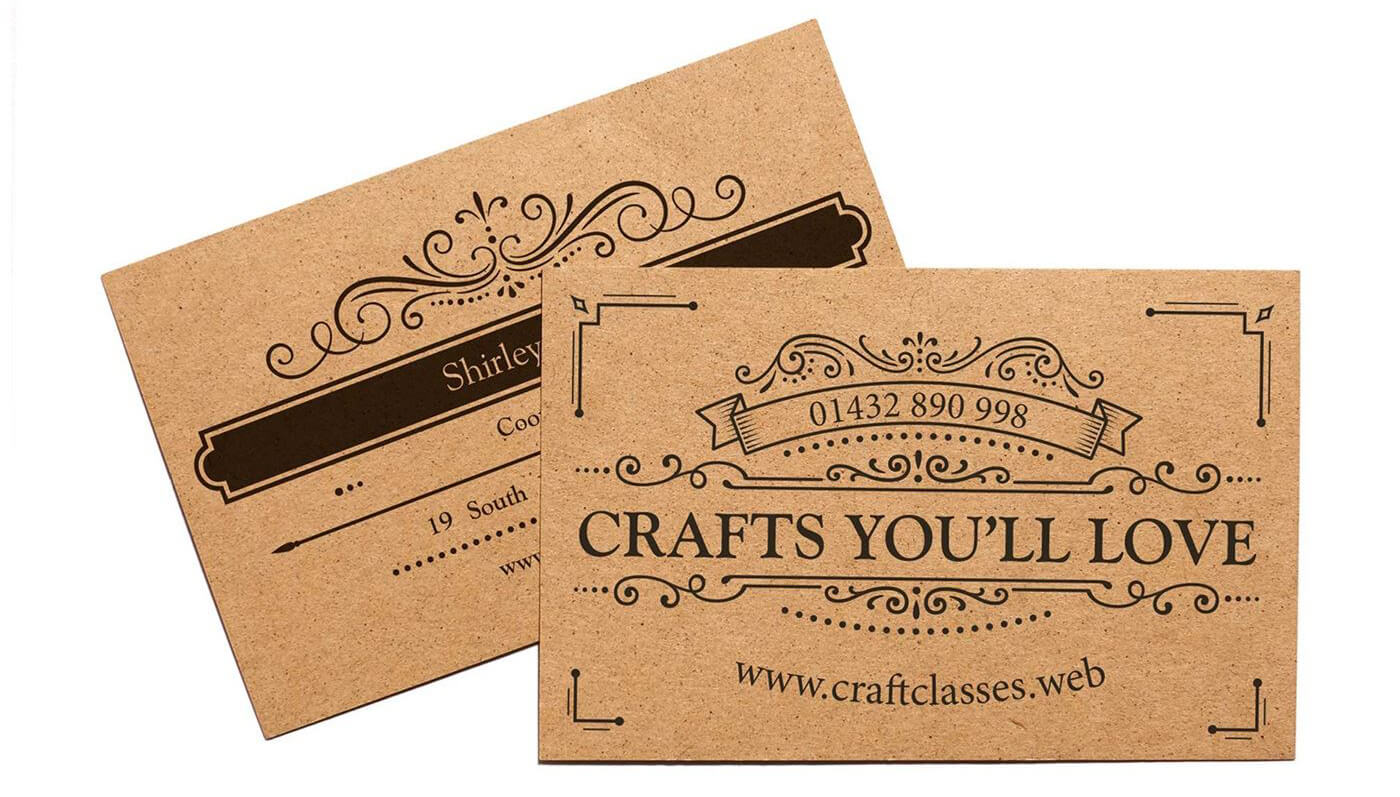 vistaprint-kraft-business-cards