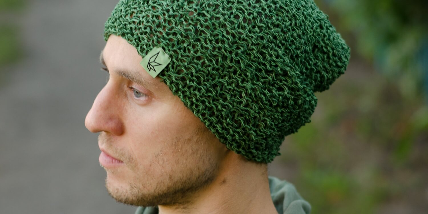 green-hemp-beanie-hat