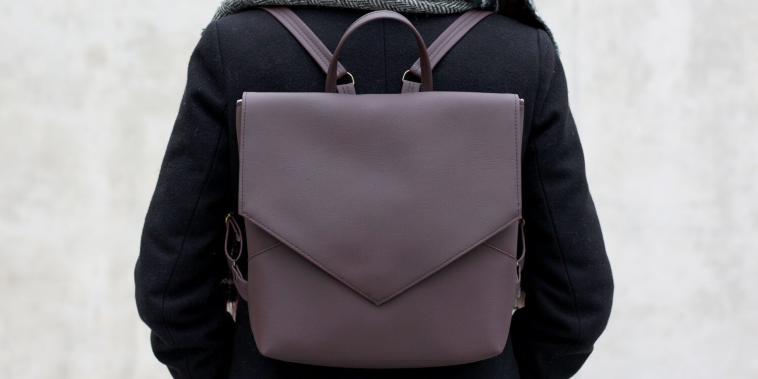 Faux Leather Backpack by Sugulovas