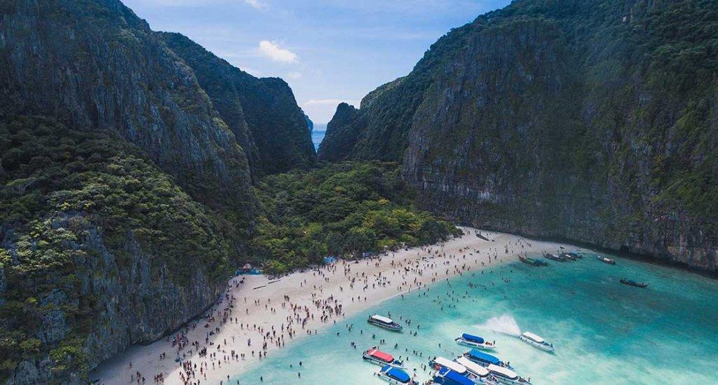 maya bay beach crowded
