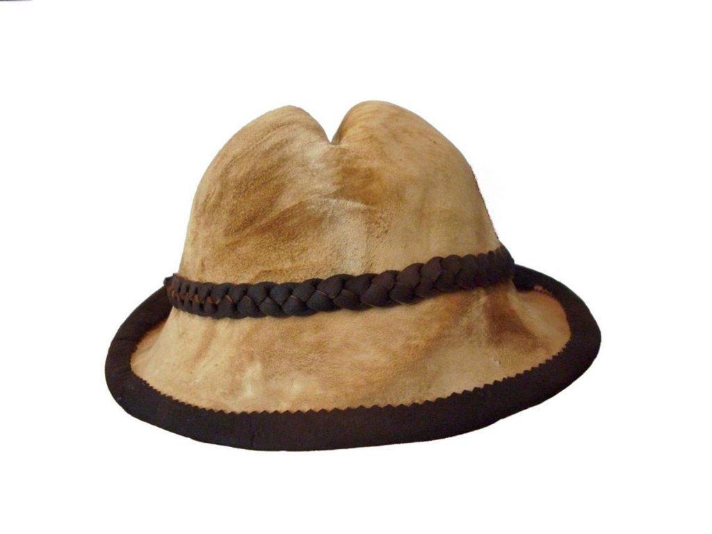 amadou mushroom leather hat