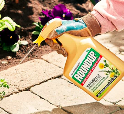round up weed killer yellow bottle